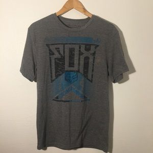 FOX tee shirt active training gray slim fit medium